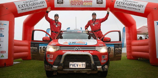 Mitsubishi Outlander PHEV completó con éxito el Australasian Safari 2014 - Gracia Autos