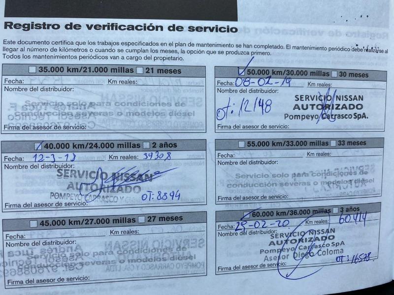 NISSAN X-TRAIL TRES CORRIDAS DE ASIENTOS 2016 MANTENIMIENTO EN LA MARCA - FULL MOTOR